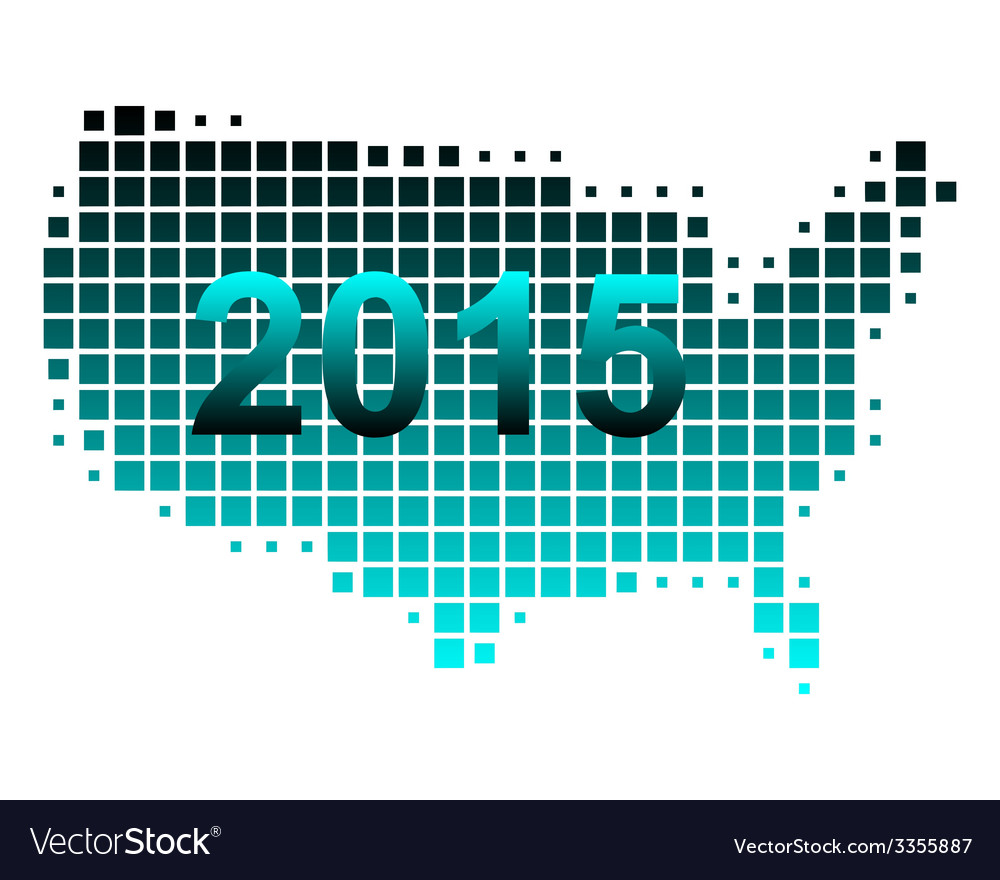 Map of usa 2015 vector | Price: 1 Credit (USD $1)
