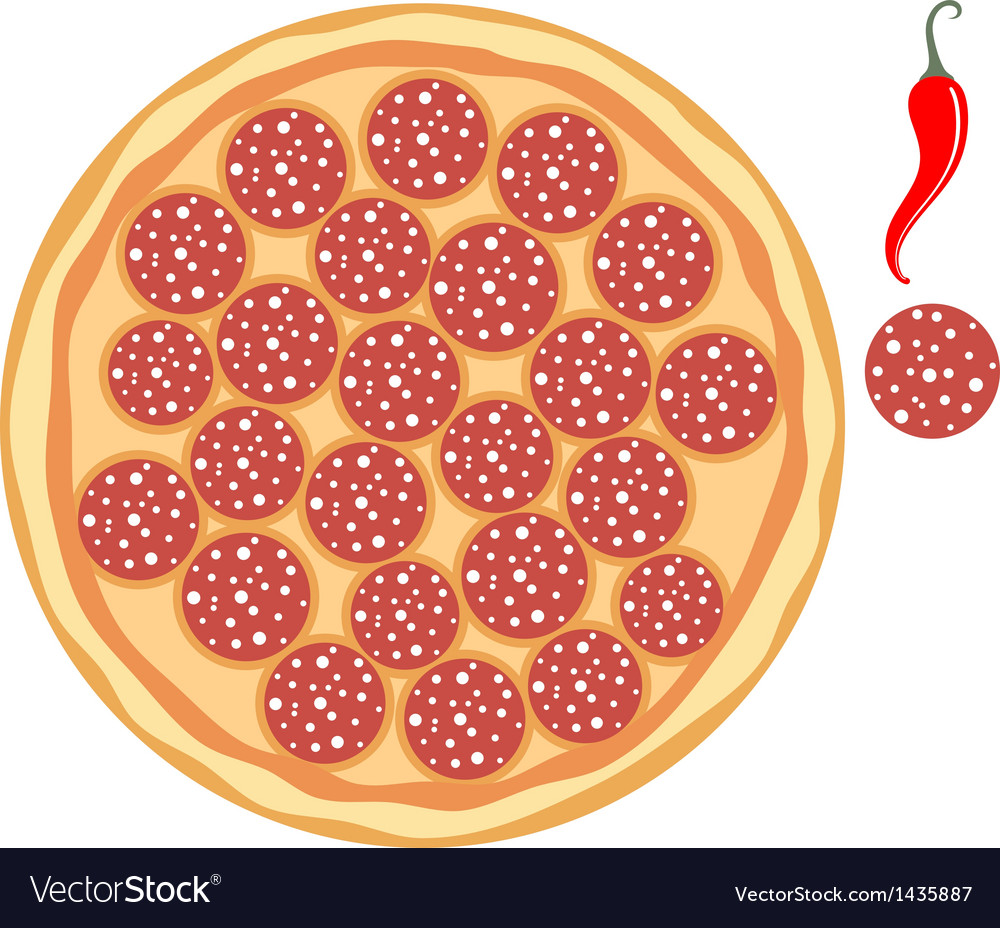 Pepperoni pizza vector | Price: 1 Credit (USD $1)