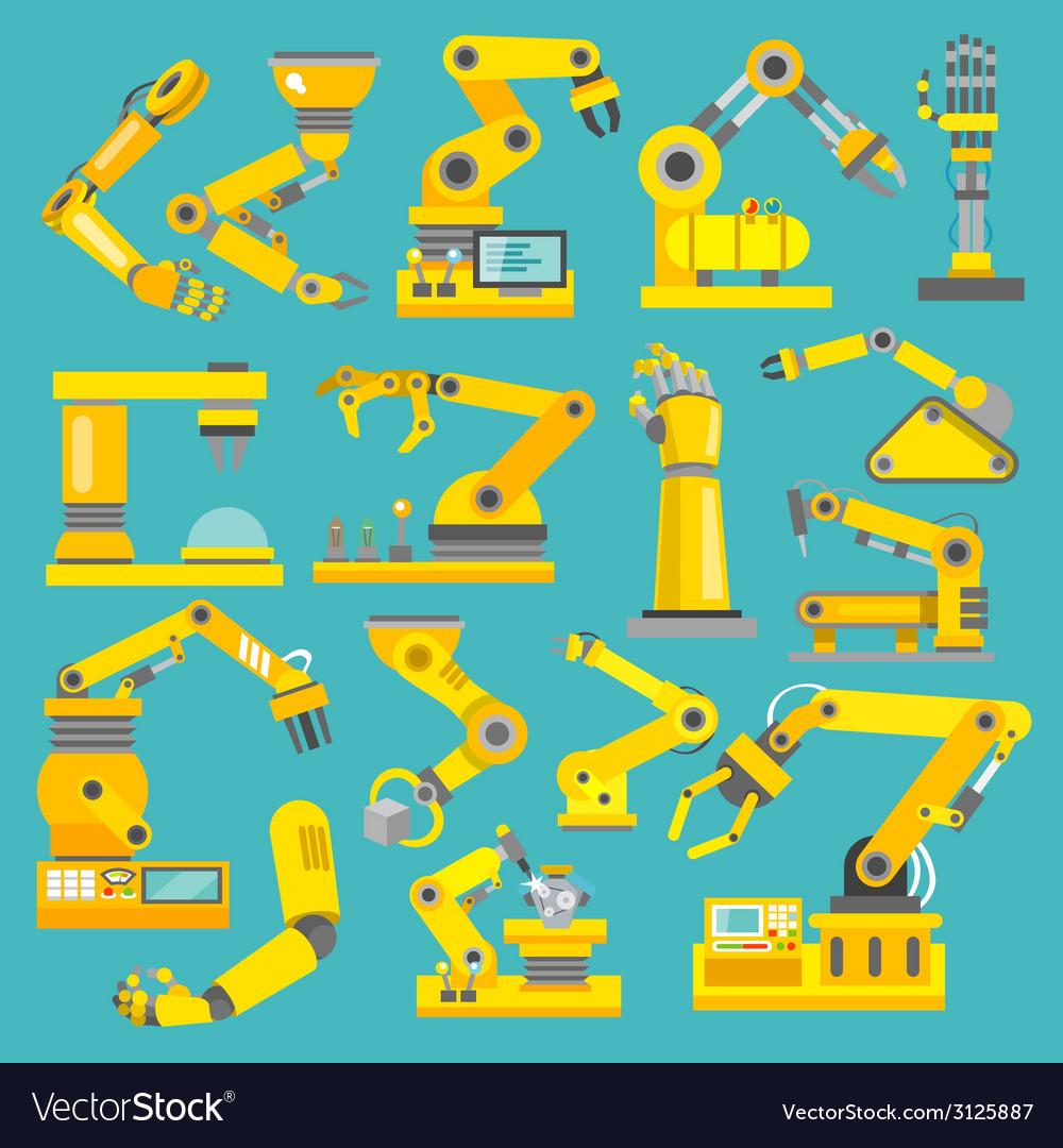 Robotic arm flat vector | Price: 1 Credit (USD $1)