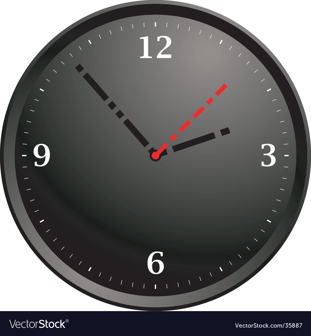 Tick tock modern vector | Price: 1 Credit (USD $1)
