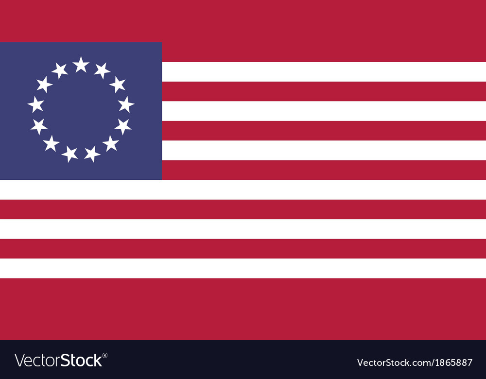 Usa betsy ross flat vector | Price: 1 Credit (USD $1)