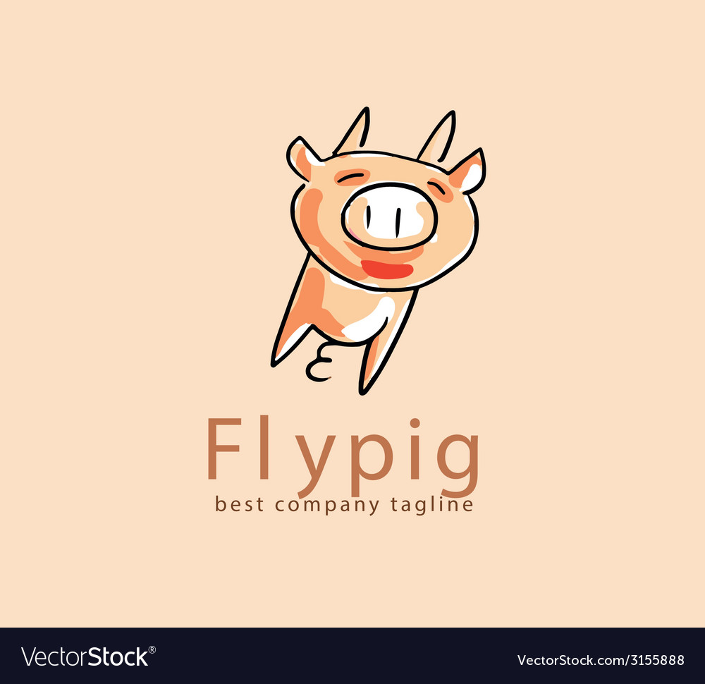 Abstract pig monster logo icon concept logotype vector | Price: 1 Credit (USD $1)