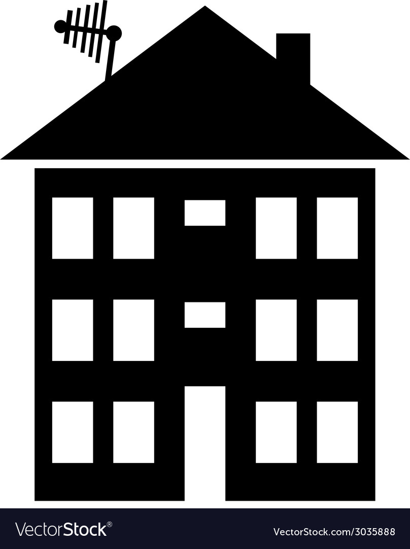 Apartment house icon vector | Price: 1 Credit (USD $1)