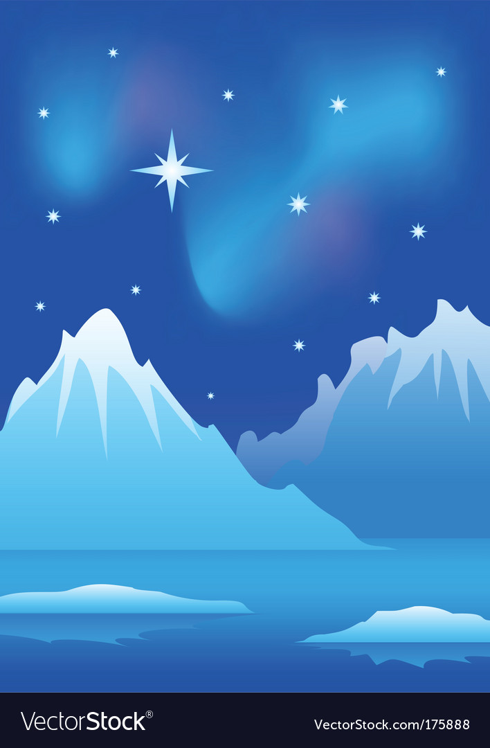 Arctic landscape vector | Price: 1 Credit (USD $1)