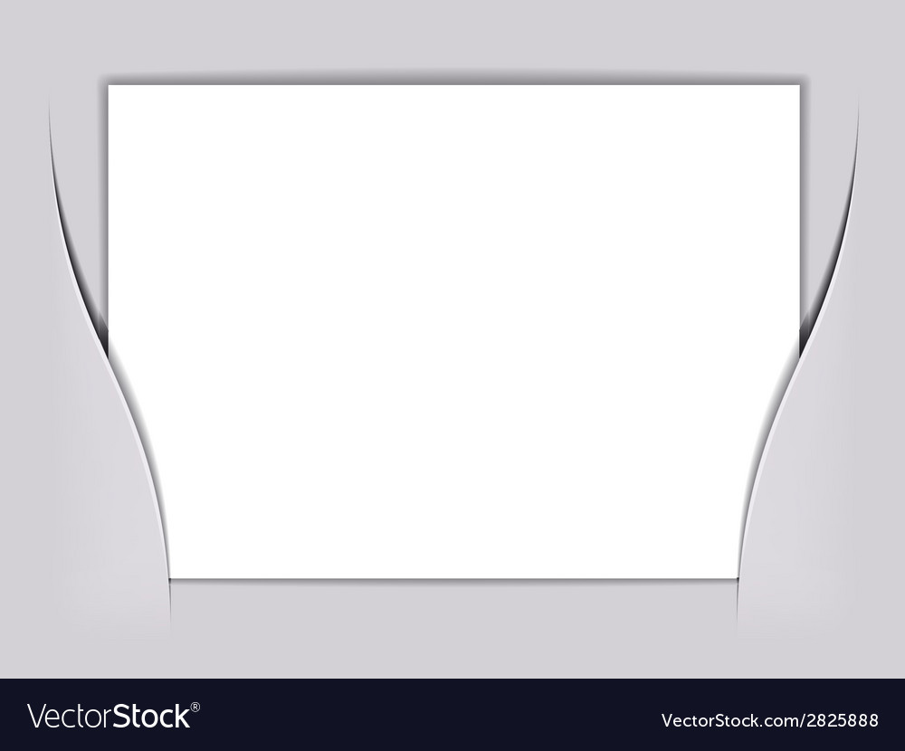 Blank white rectangle paper vector | Price: 1 Credit (USD $1)