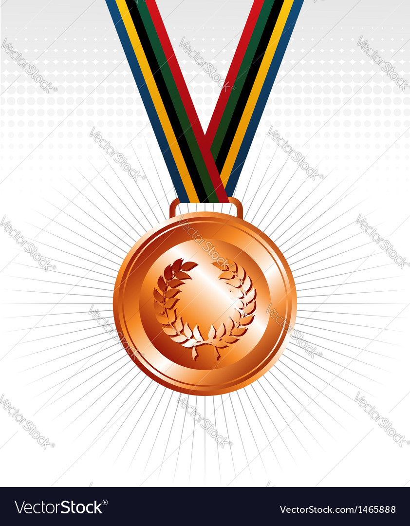 Bronze medal ribbons background vector | Price: 1 Credit (USD $1)
