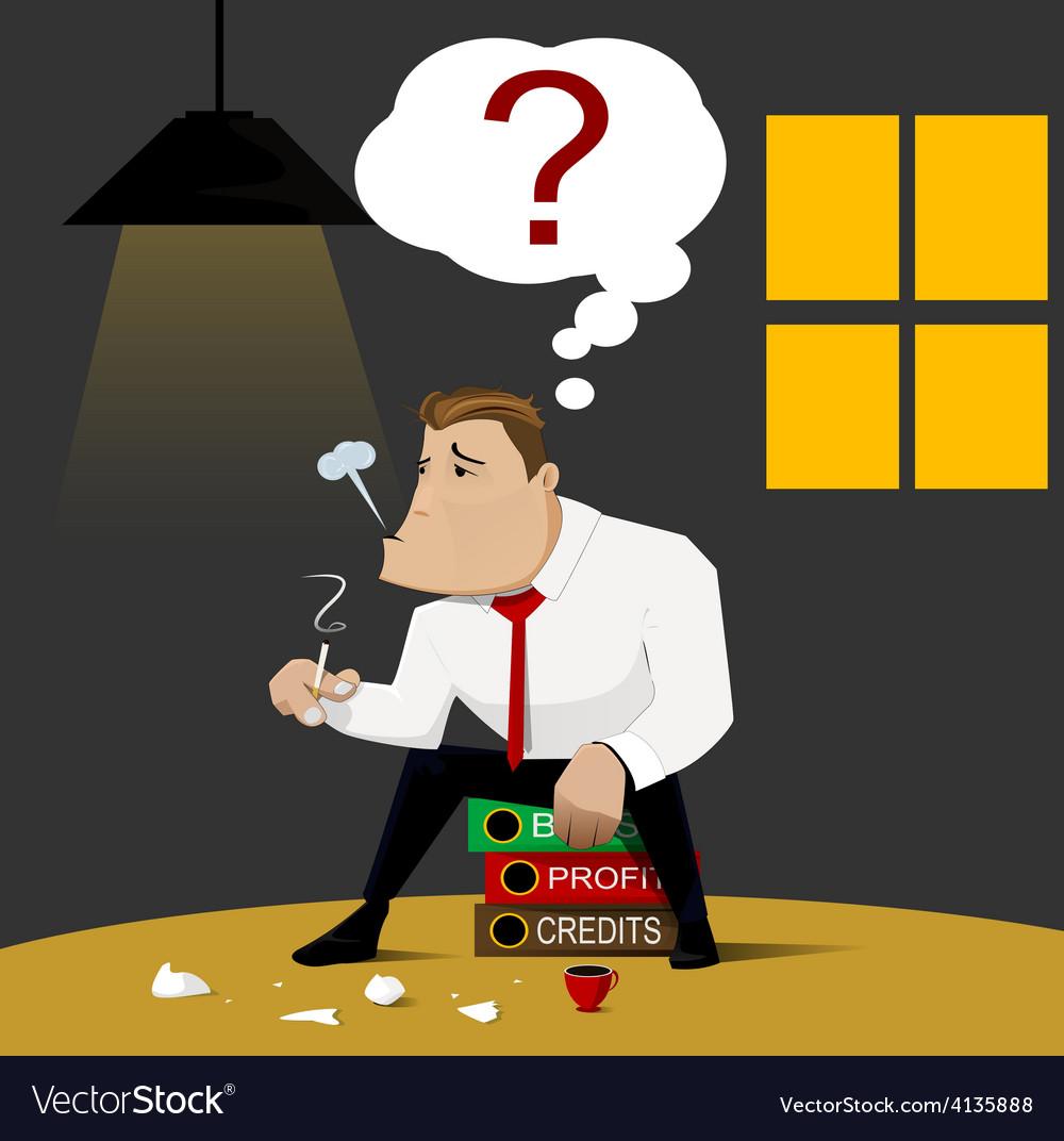 Businessman who bankruptcy design vector | Price: 1 Credit (USD $1)