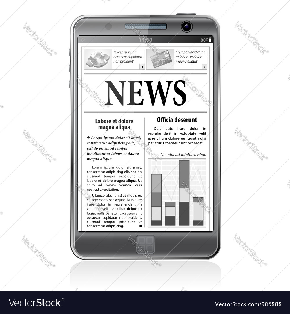 Concept - digital news smartphone with news vector | Price: 3 Credit (USD $3)