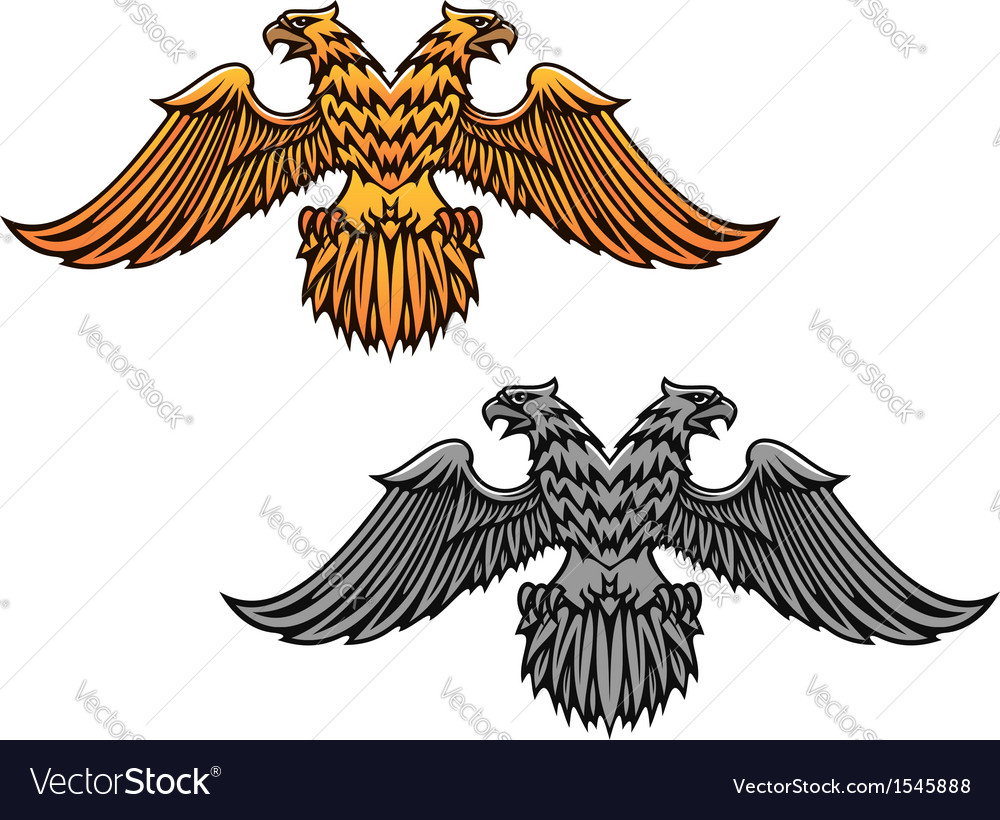 Double eagle mascot vector | Price: 3 Credit (USD $3)
