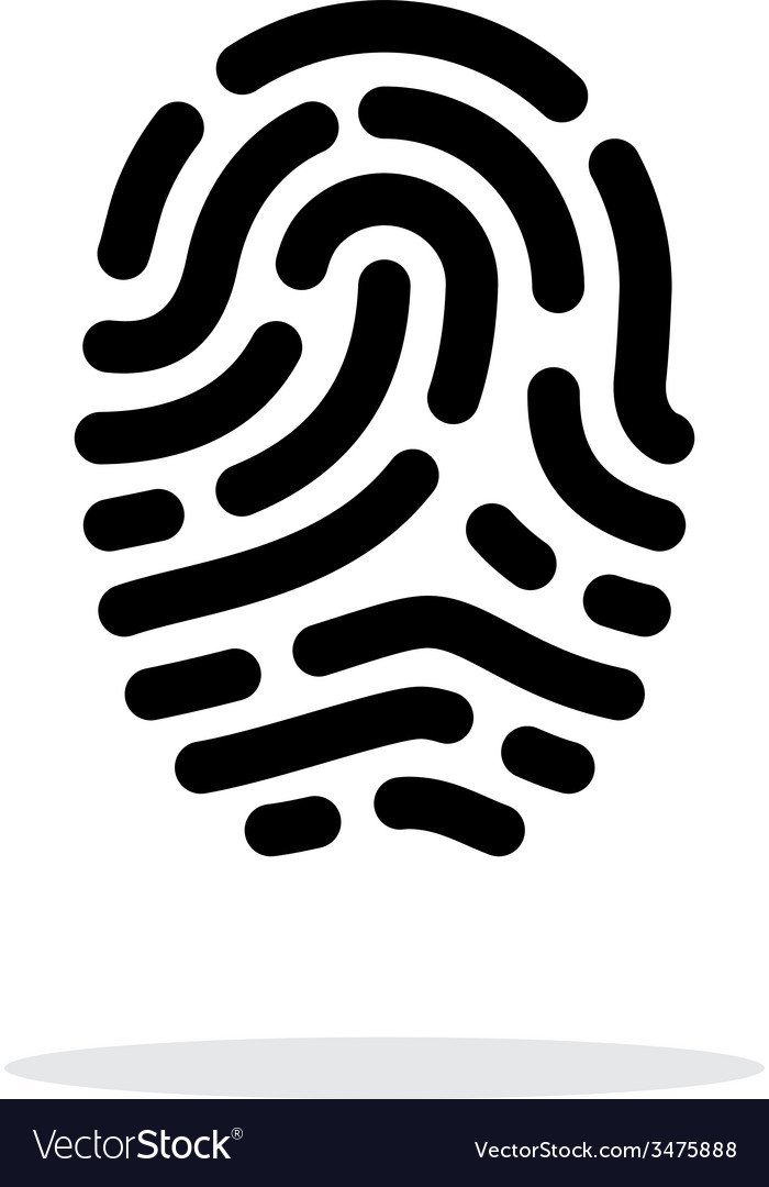Fingerprint scanner icon on white background vector | Price: 1 Credit (USD $1)