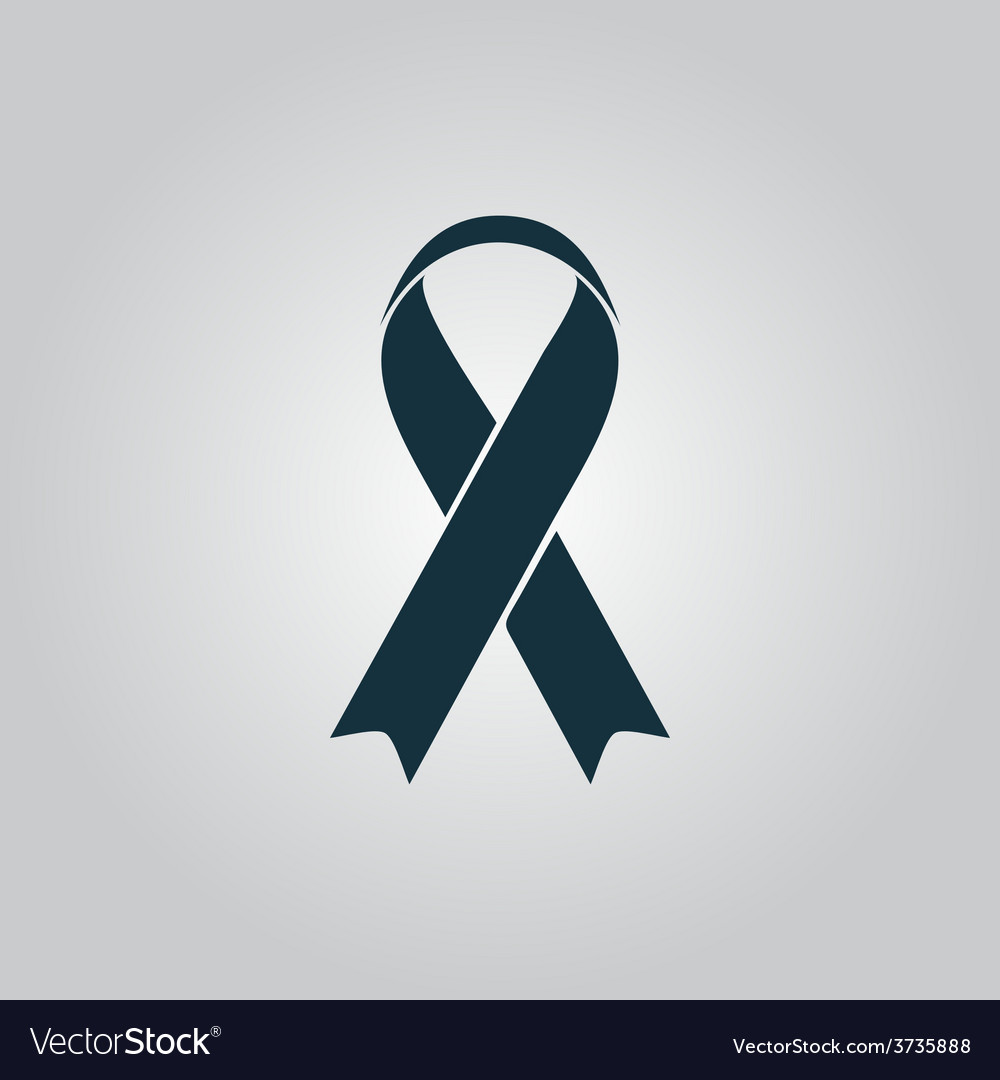 Flat ribbon aids symbol icon vector | Price: 1 Credit (USD $1)