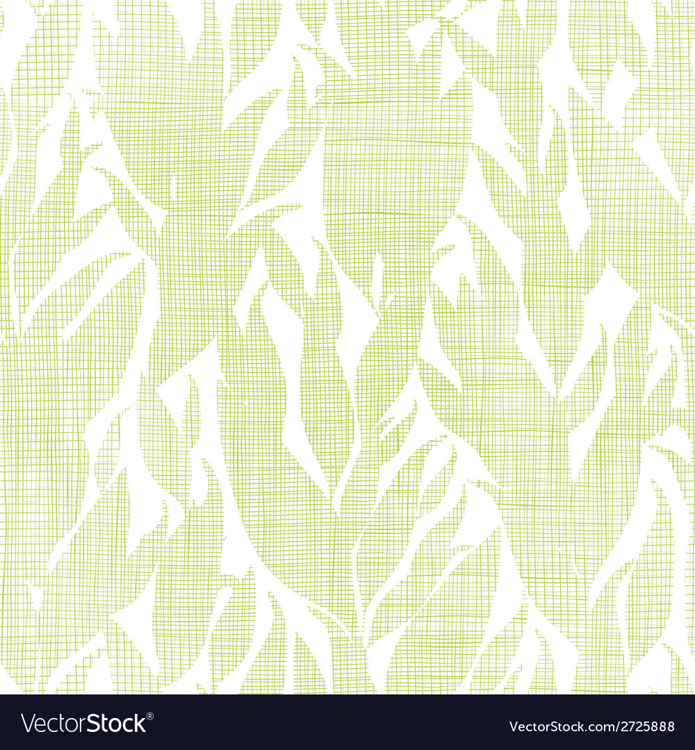 Green leaves textile texture seamless pattern vector | Price: 1 Credit (USD $1)