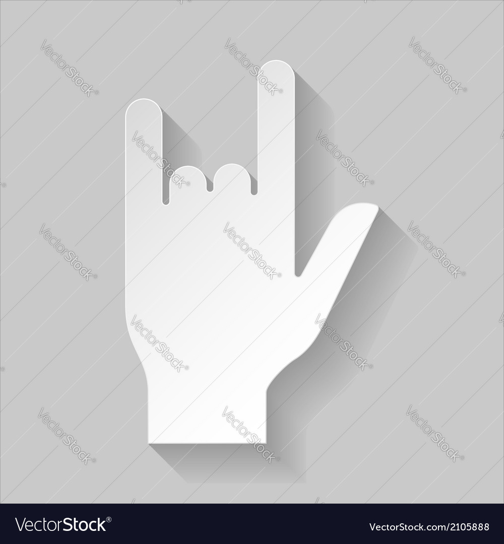 Hard rock sign vector | Price: 1 Credit (USD $1)