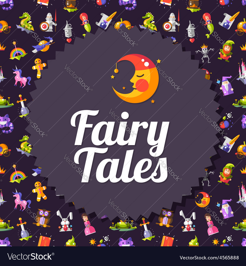 Modern flat design fairy tales and magic flyer vector   Price: 1 Credit (USD $1)
