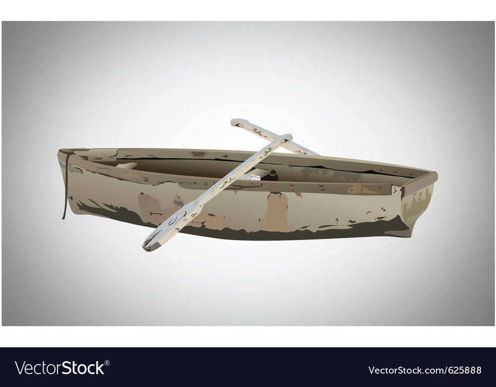 Old boat vector | Price: 1 Credit (USD $1)