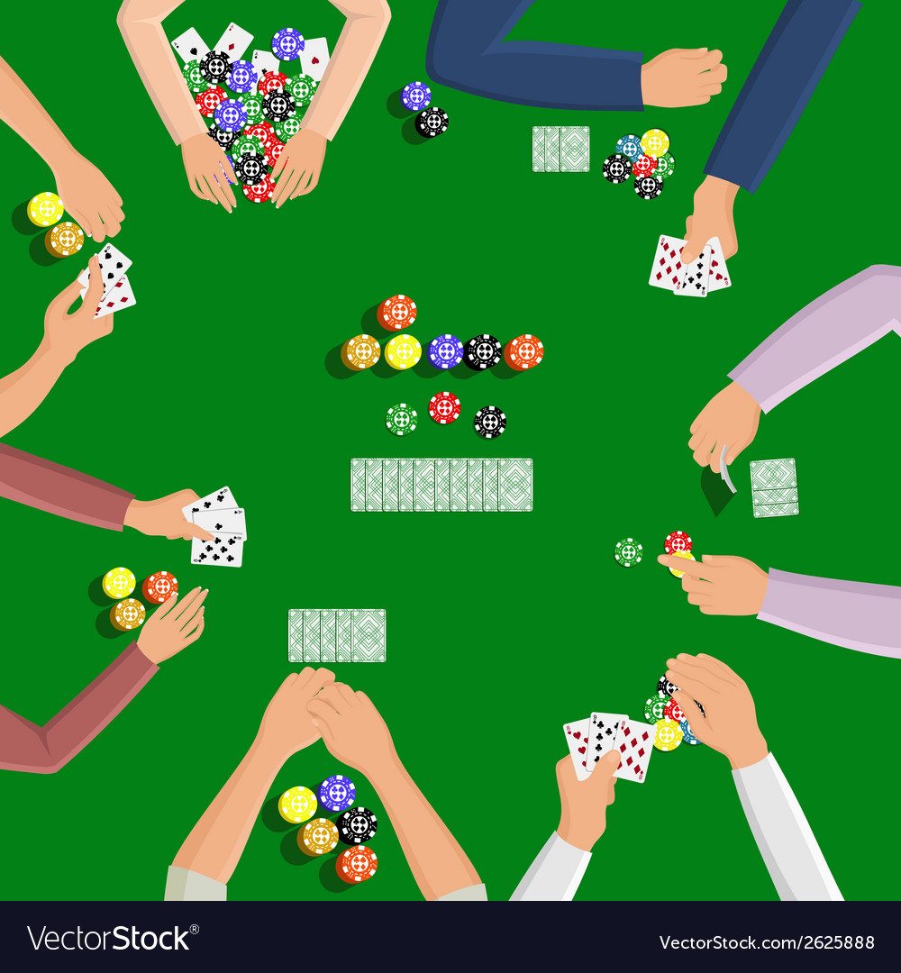 People playing in poker vector | Price: 1 Credit (USD $1)