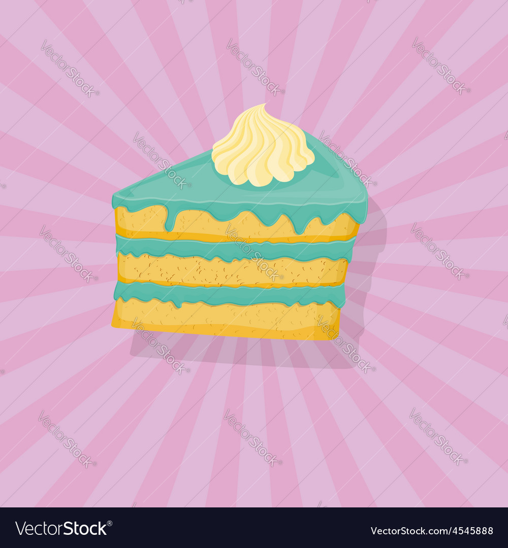 Piece of cake icon vector | Price: 1 Credit (USD $1)