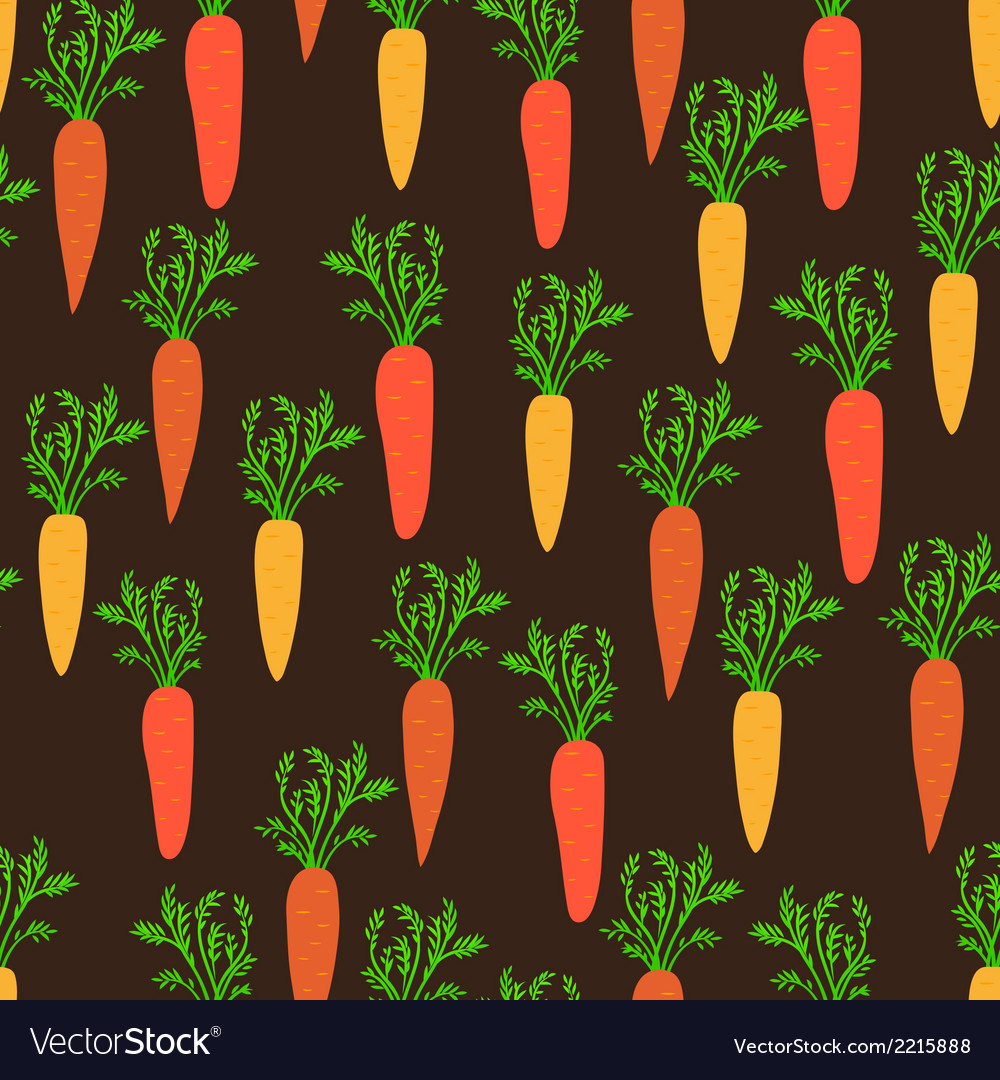 Seamless pattern with young carrot vector | Price: 1 Credit (USD $1)