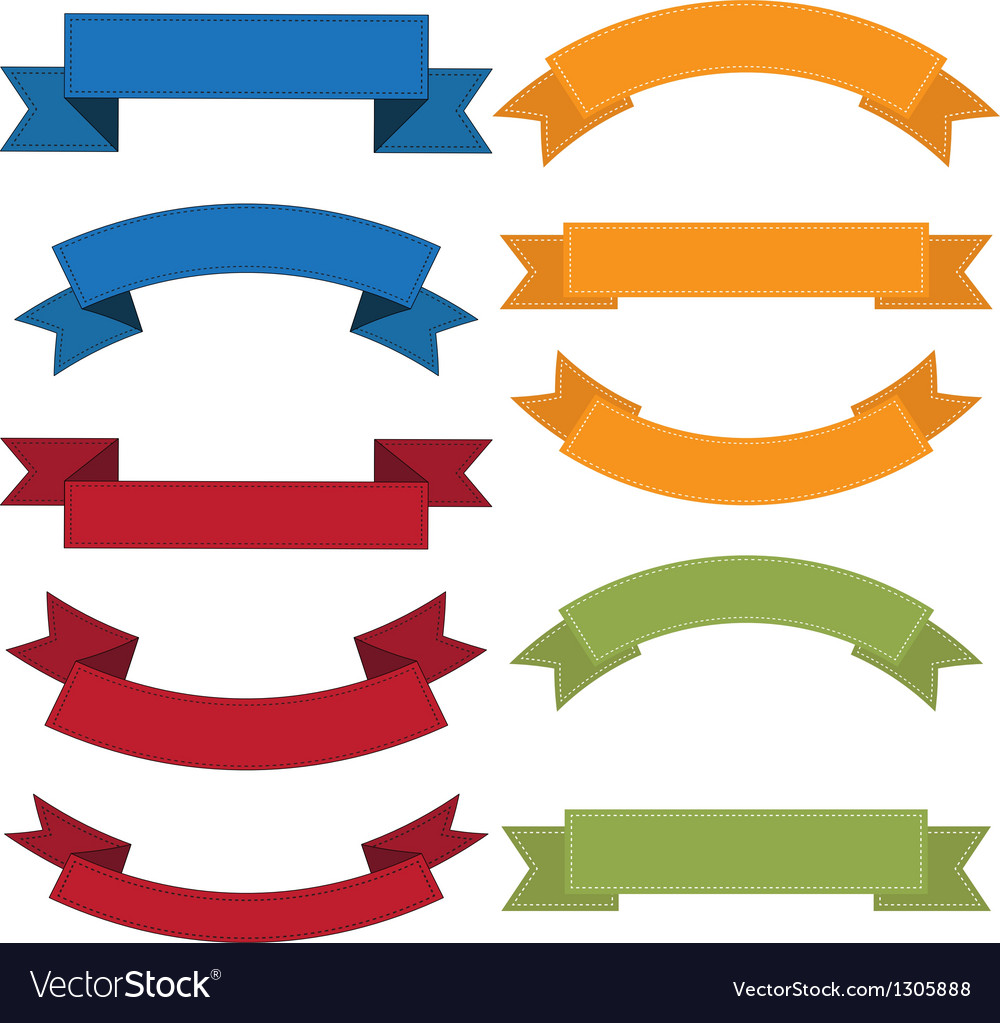 Set of old ribbon banner eps10 vector | Price: 1 Credit (USD $1)