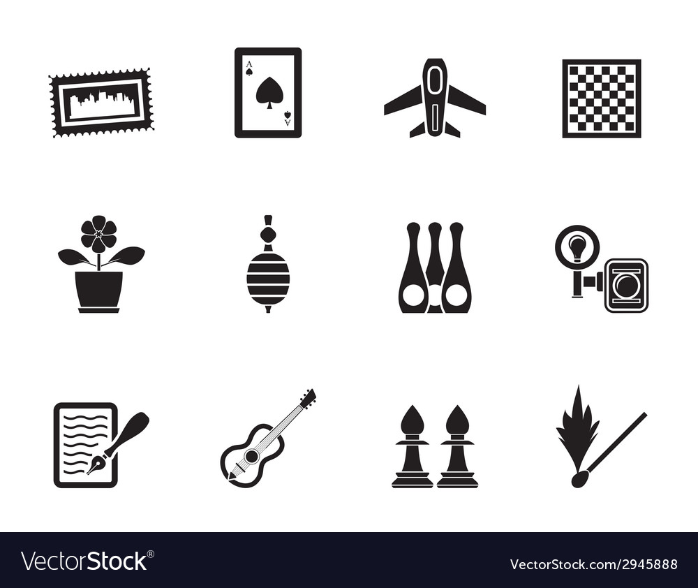 Silhouette leisure and holiday objects vector | Price: 1 Credit (USD $1)
