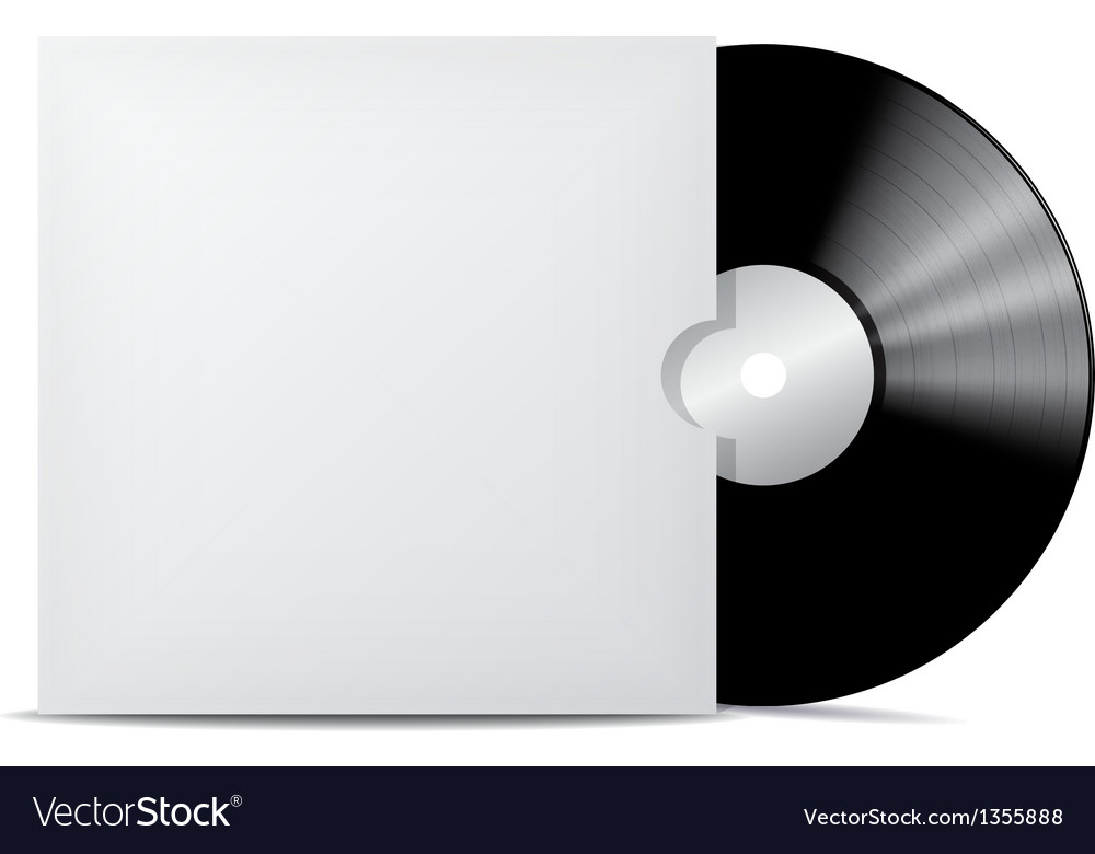Vinyl record in blank cover envelope vector | Price: 1 Credit (USD $1)