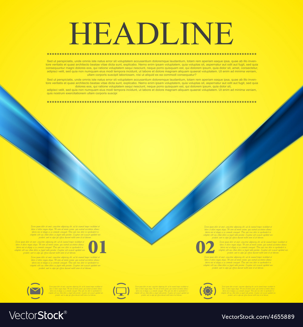 Abstract contrast yellow blue tech background vector | Price: 1 Credit (USD $1)