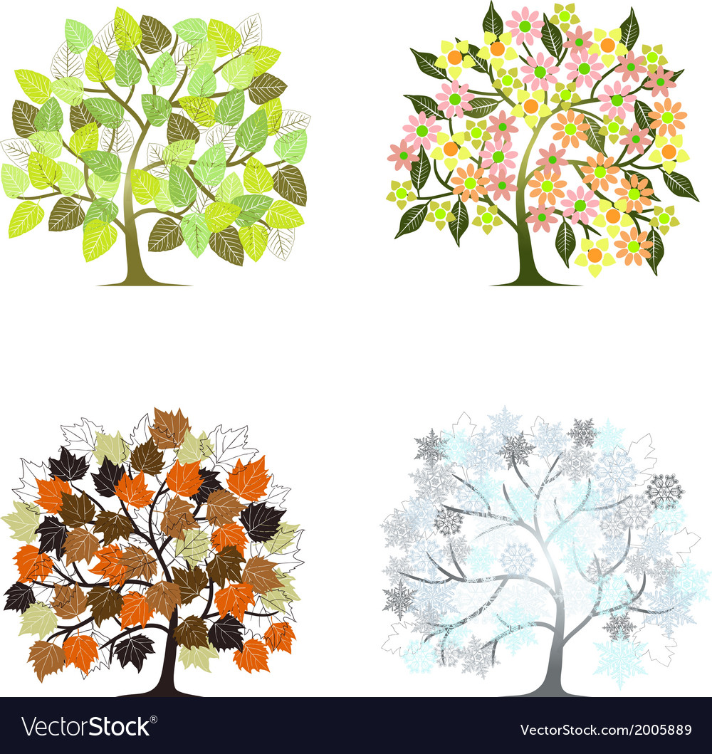 Abstract tree - graphic element - four seasons vector | Price: 1 Credit (USD $1)