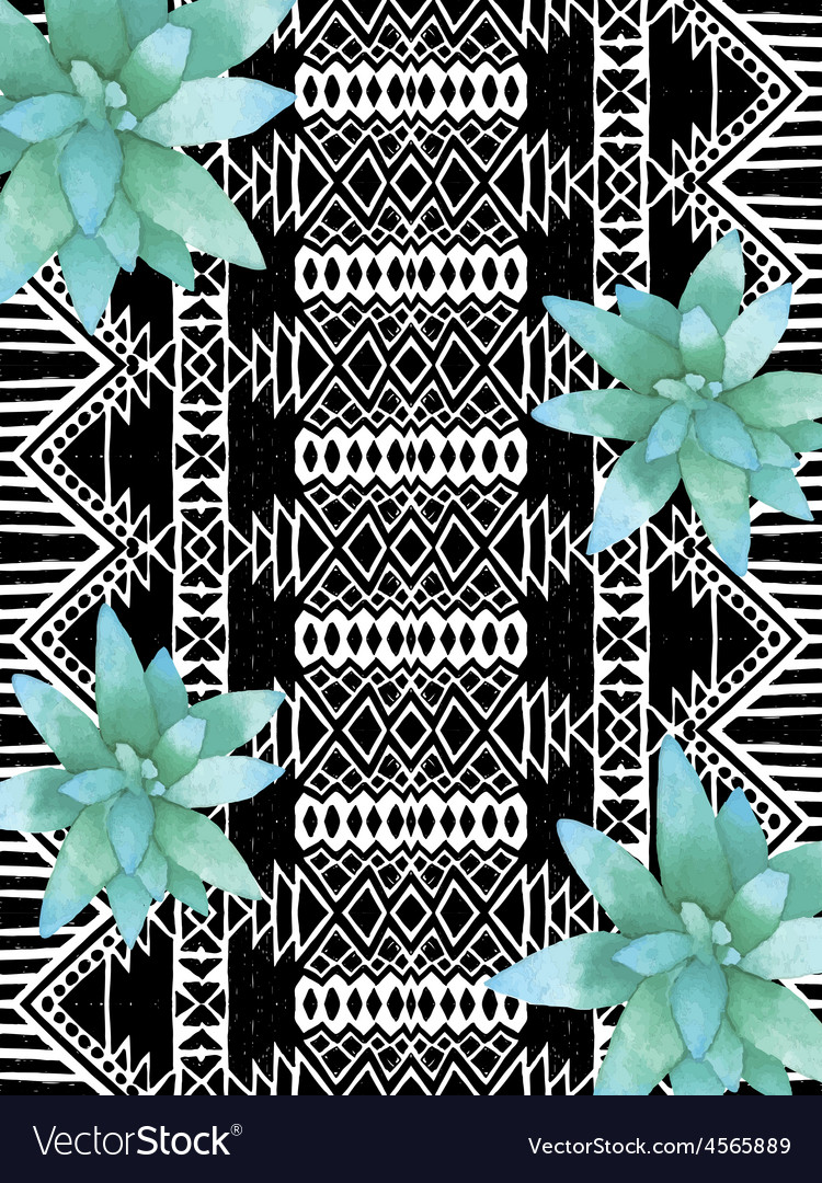 Aztec tribal mexican pattern vector | Price: 1 Credit (USD $1)