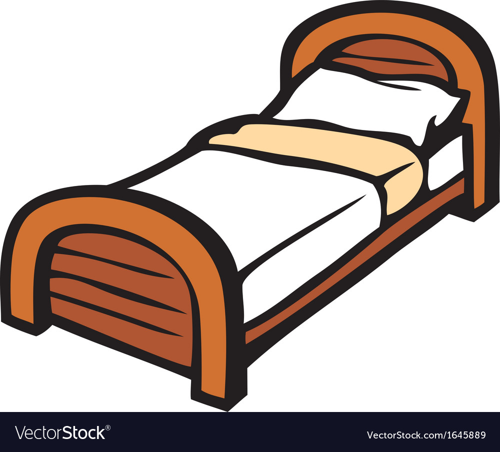 Bed and pillow vector   Price: 1 Credit (USD $1)