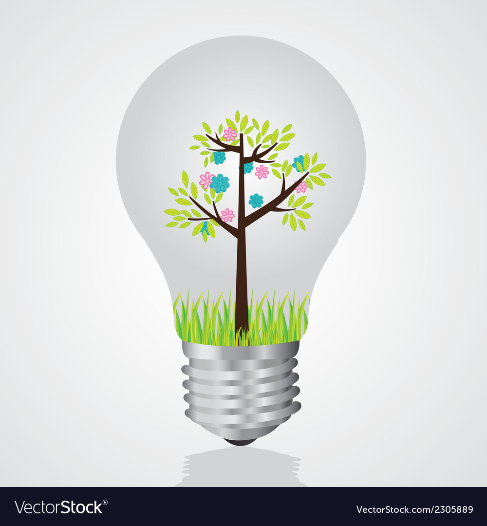 Bulb recycling reuse of old light bulbs vector | Price: 1 Credit (USD $1)