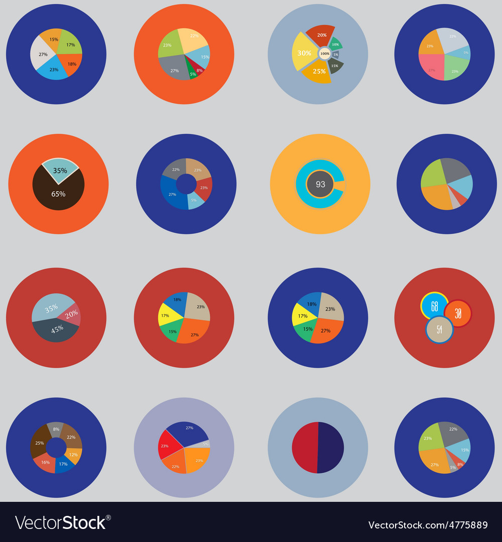 Infographic elements the set is round  items for vector | Price: 1 Credit (USD $1)