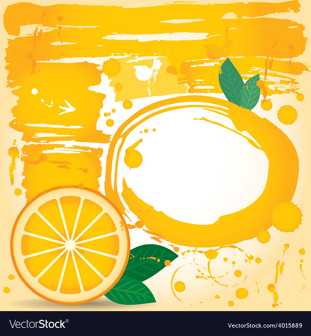 Juice fruit drops liquid orange element design vector | Price: 1 Credit (USD $1)