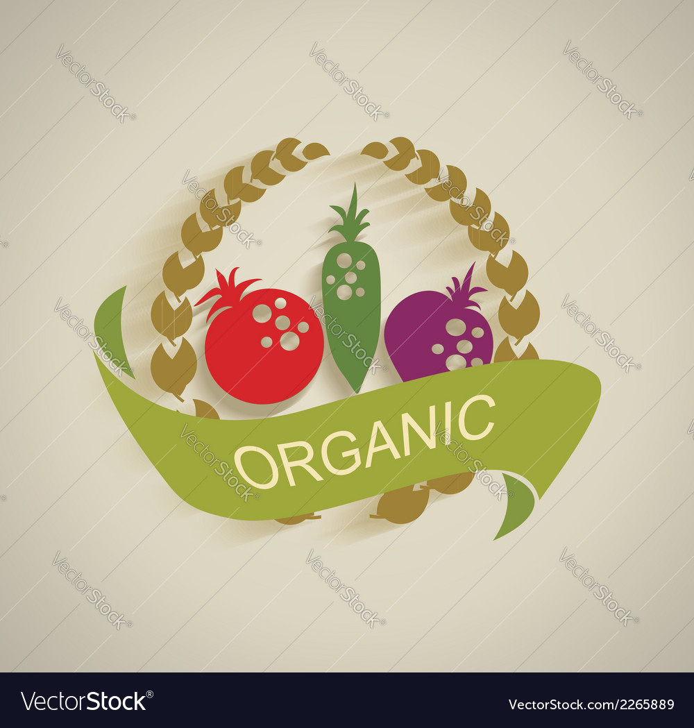 Nature vegetable label vector | Price: 1 Credit (USD $1)