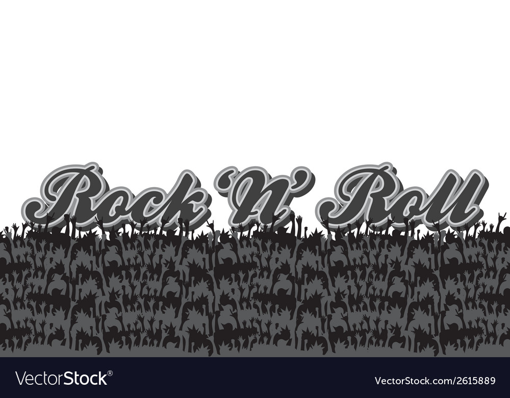 Rock n roll design elements vector | Price: 1 Credit (USD $1)