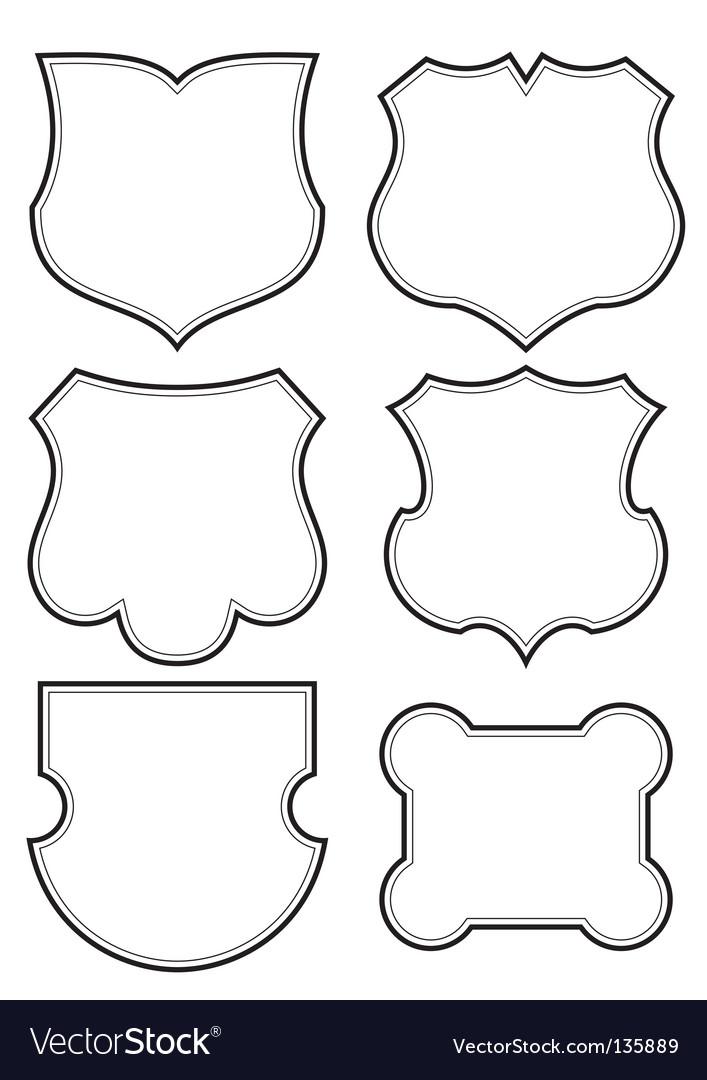 Shield frames set vector | Price: 1 Credit (USD $1)