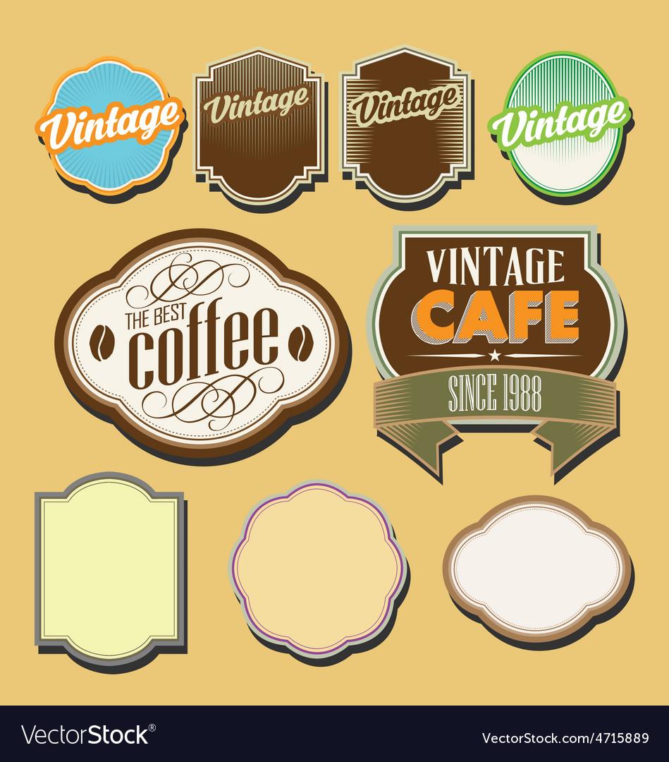 Vintage retro label set vector | Price: 1 Credit (USD $1)