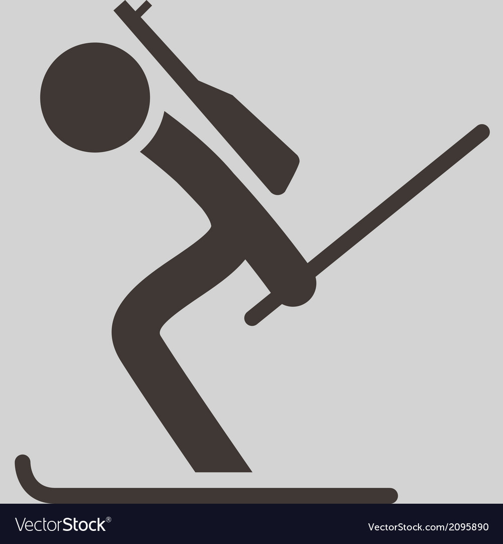 Biathlon icon vector | Price: 1 Credit (USD $1)