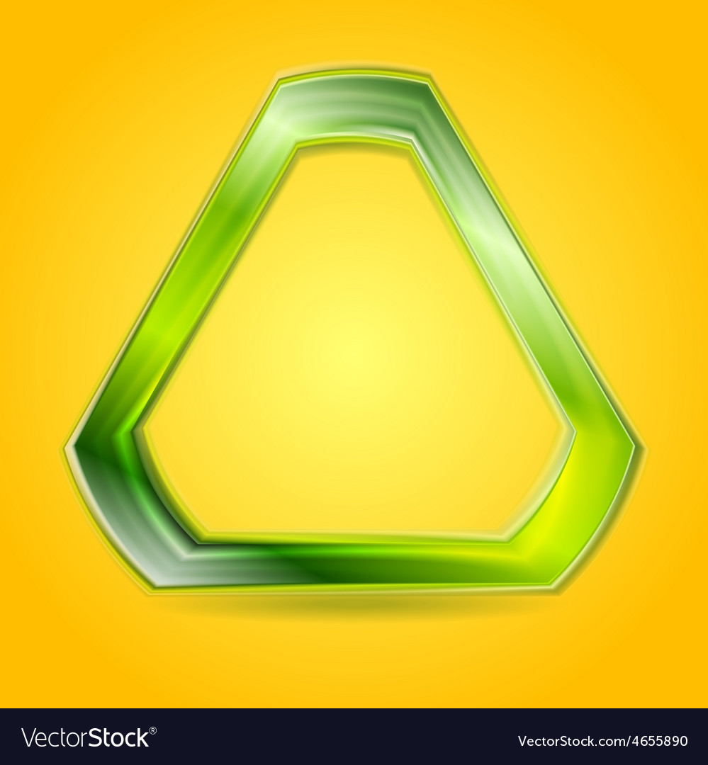 Bright green glowing triangle logo vector | Price: 1 Credit (USD $1)