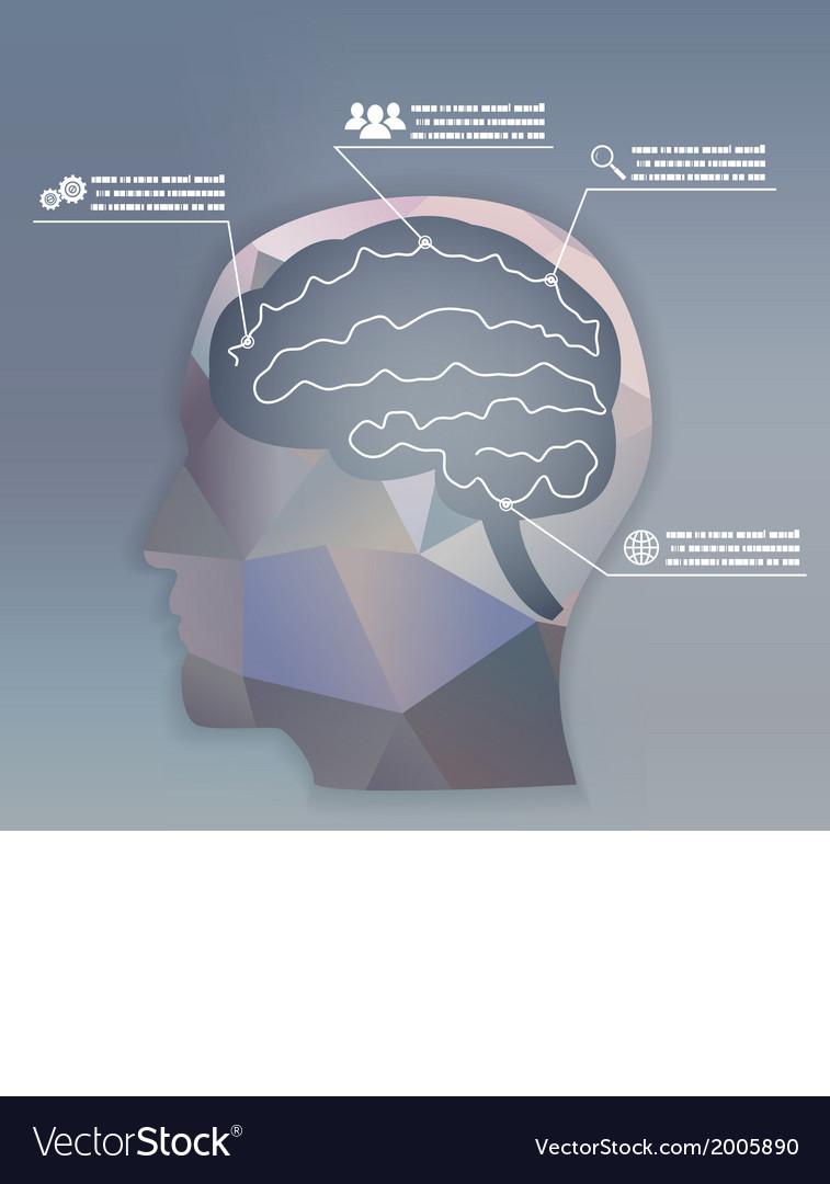 Businessman brain headmind social network media vector | Price: 1 Credit (USD $1)