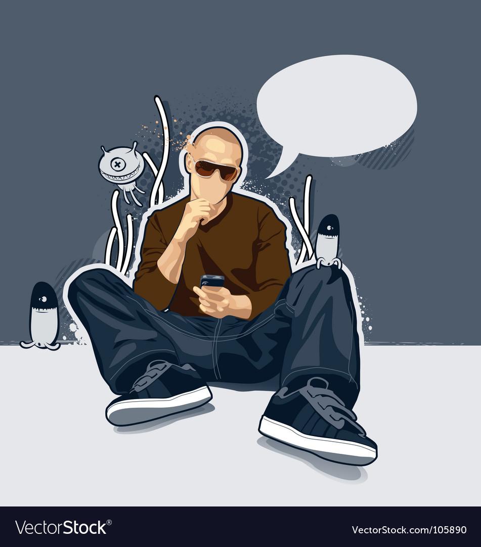 Cartoon man vector | Price: 3 Credit (USD $3)