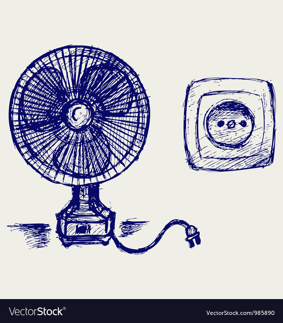 Electric fan and socket vector | Price: 1 Credit (USD $1)