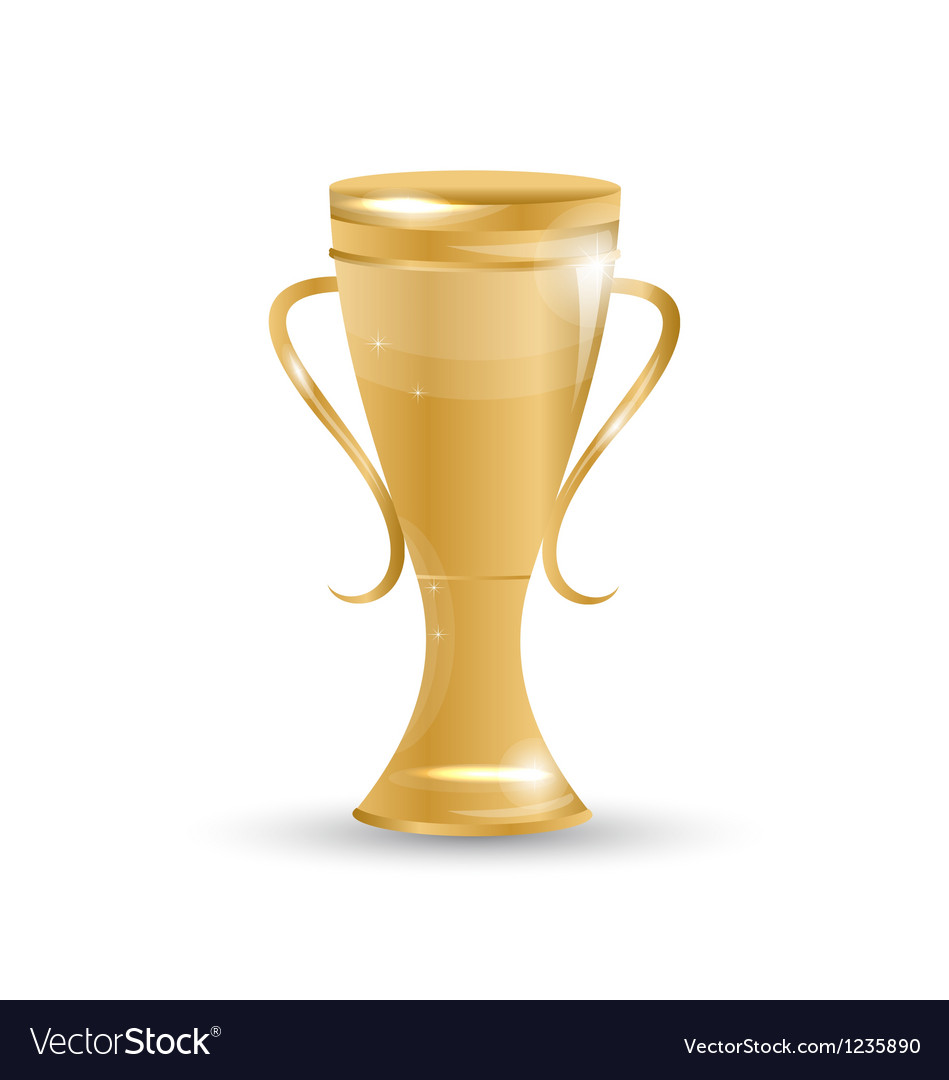 Football cup isolated on white background vector | Price: 1 Credit (USD $1)