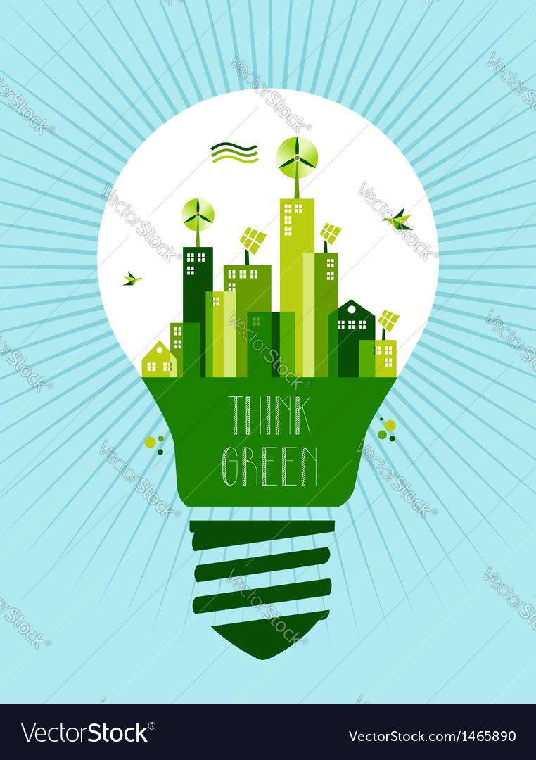 Go green city idea vector | Price: 1 Credit (USD $1)