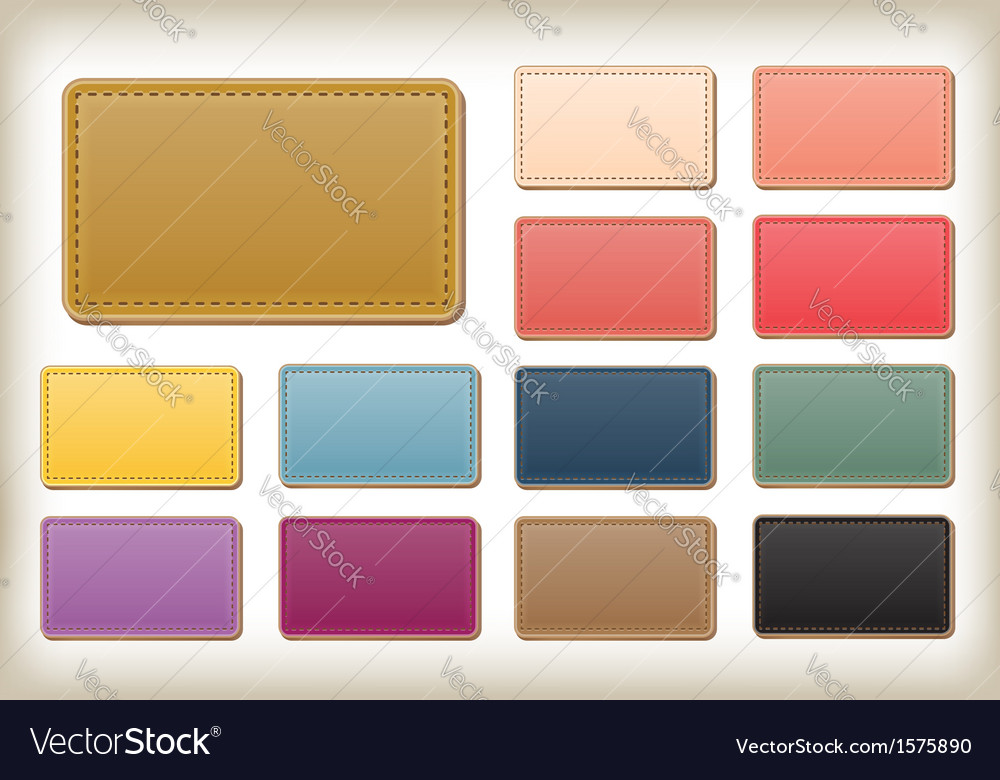 Leather tag vector | Price: 1 Credit (USD $1)