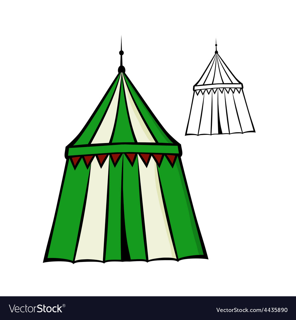 Medieval tent vector | Price: 1 Credit (USD $1)