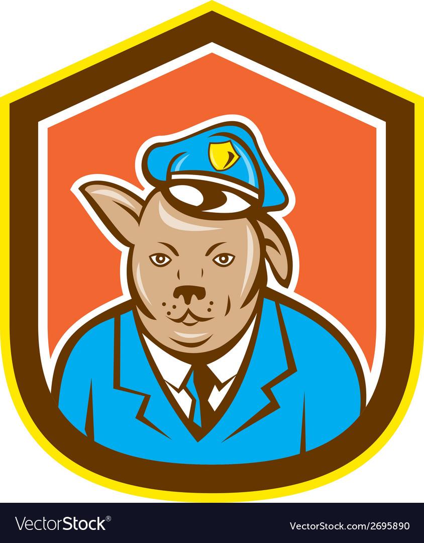 Police dog canine shield cartoon vector   Price: 1 Credit (USD $1)