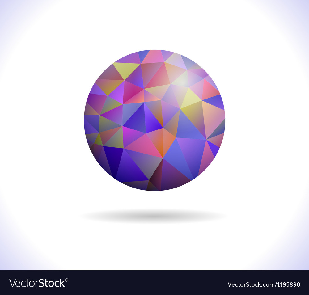 Prismatic faceted sphere vector | Price: 1 Credit (USD $1)