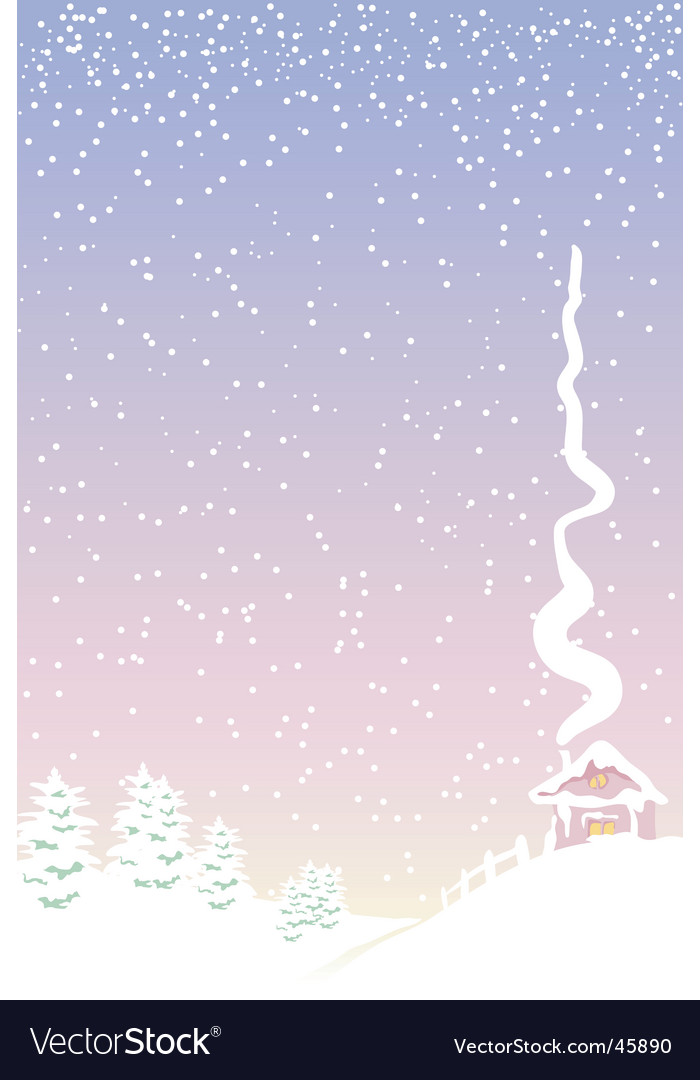 Rural winter vector