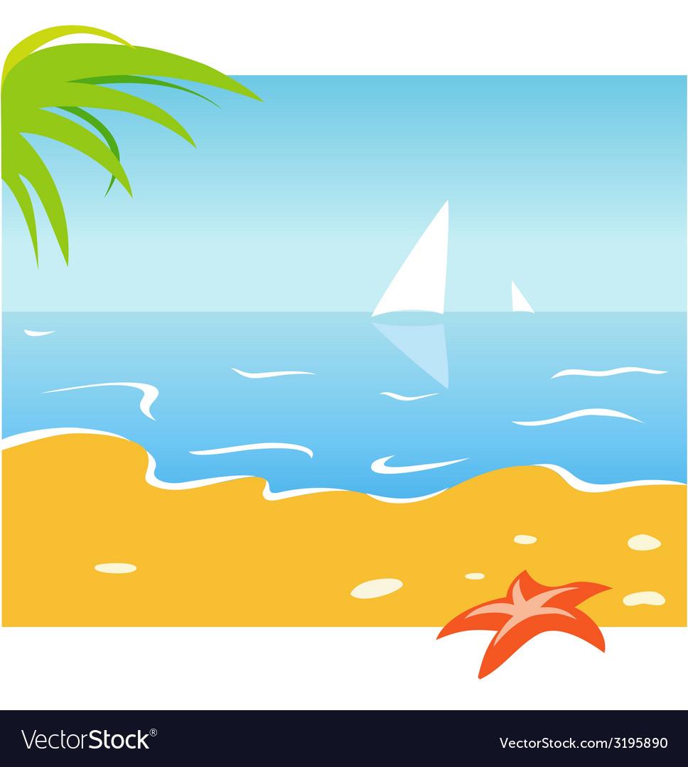 Seaside vector | Price: 1 Credit (USD $1)