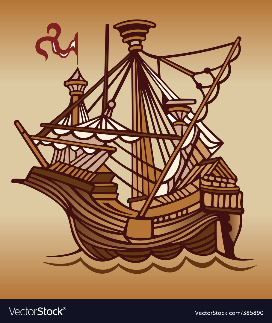 Spanish sail ship vector | Price: 1 Credit (USD $1)